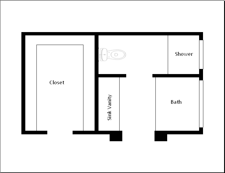 Bathroom Floor Plan Design Tool using excel as a design tool | diy project blog