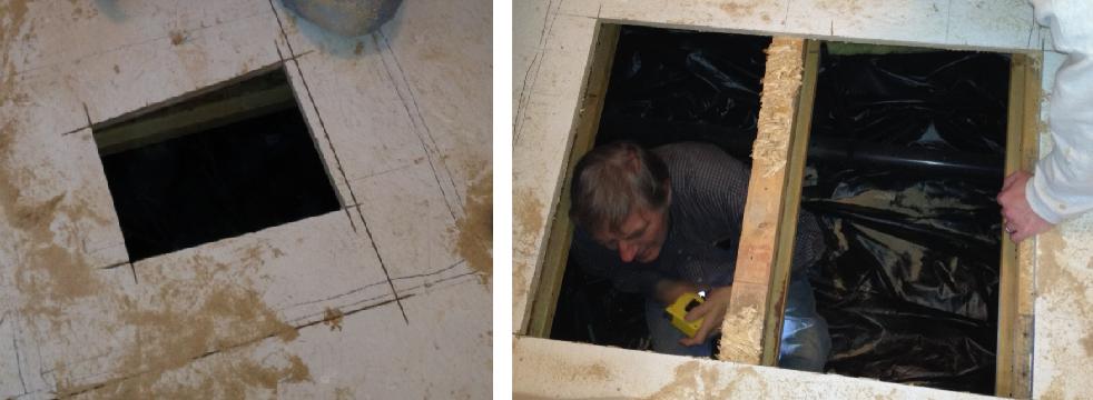 Cutting A Hatch For Under House Storage