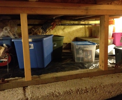 crawl space storage foundation beam